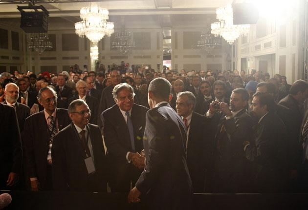 President Barack Obama arrives in Mumbai