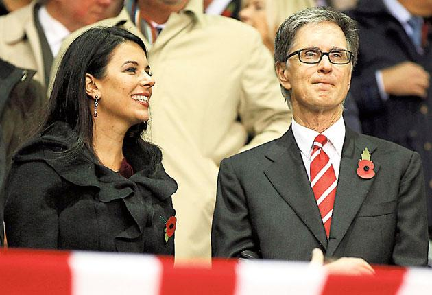 Linda Pizzuti soaks up the Anfield atmosphere with her husband, JohnWHenry