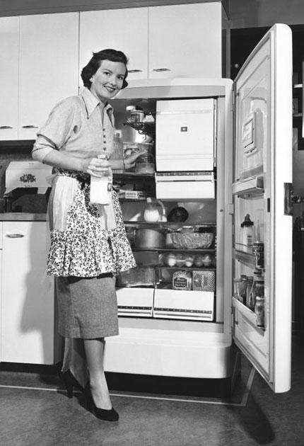 Cool and the gang: fridges took off in the 1930s in America but it took until 1959 for Britain to chill out