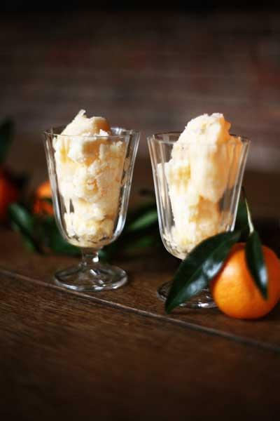 Citrus twist: Clementine sorbet is a gentle, refreshing way to finish a meal