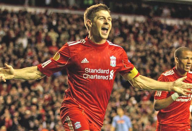 Liverpool captain Steven Gerrard is still the fulcrum of his team