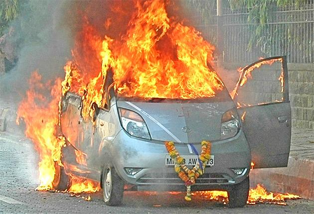 At least six Tata Nano cars have caught fire since the model went on sale last year
