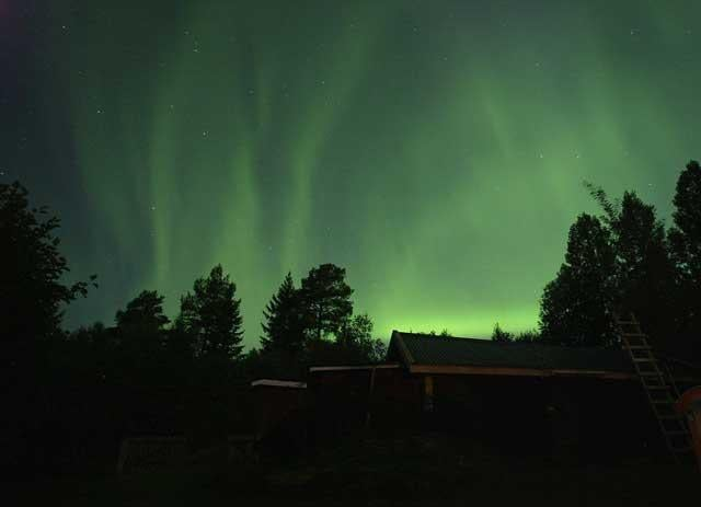 Rare treat: A display of Northern Lights at Erikslund, northern Sweden