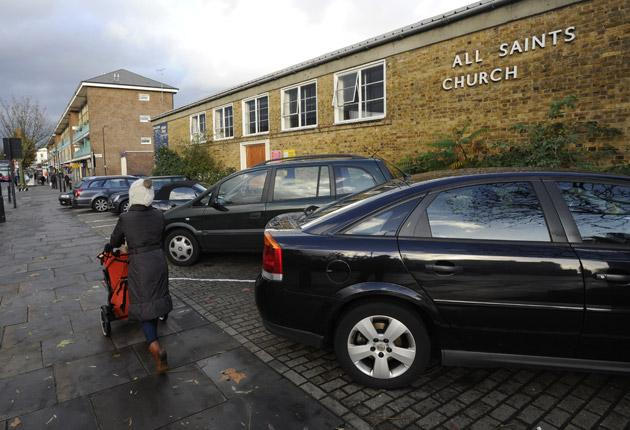 Islington-based All Saints Church began renting 12 of its private parking spaces to motorists through Parkatmyhouse.com three years ago