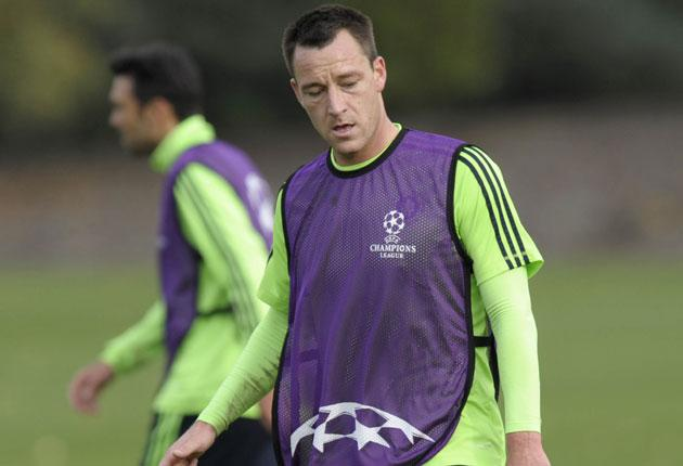 Terry has not played for England since the August friendly against Hungary