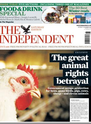 How 'The Independent' broke the story on Saturday
