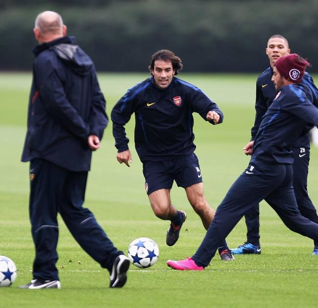Pires has been training with Arsenal