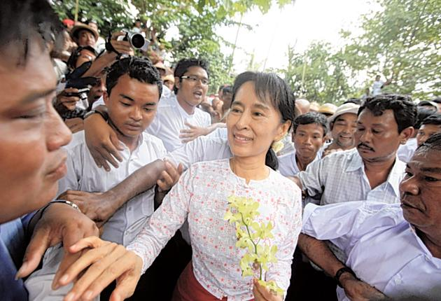 Aung San Suu Kyi spent up to six hours a days listening to the World Service
