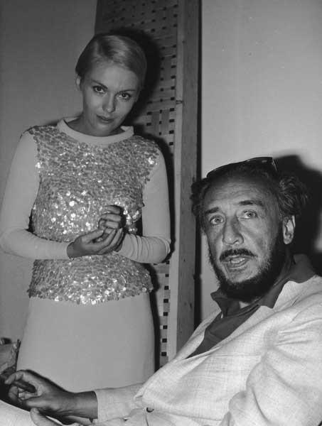 Glamour and guile: Romain Gary (right) with his wife Jean Seberg in 1967