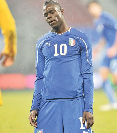 Italy's Mario Balotelli suffered racist abuse from fans of both sides before being taken off in the 1-1 draw with Romania in Austria on Wednesday
