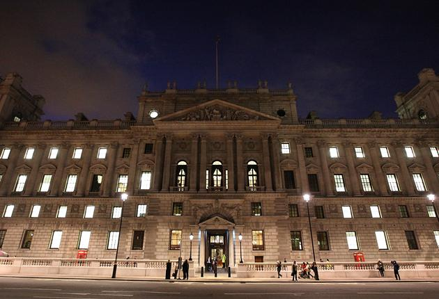The Treasury, pictured, spent over £370,000 on travel in five months