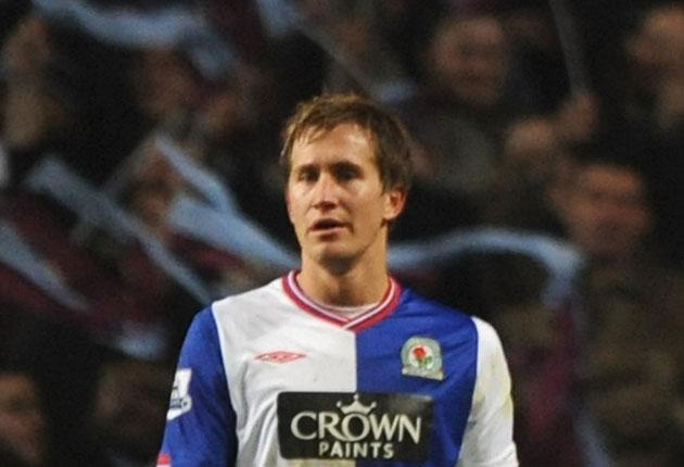 Thanks to Morten Gamst Pedersen's goals in either half against an Aston Villa, Blackburn Rovers were convincing winners