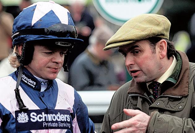 Robert Thornton (left), despite missing winners through injury, is spurred to return to action by the revived fortunes of trainer Alan King (right)