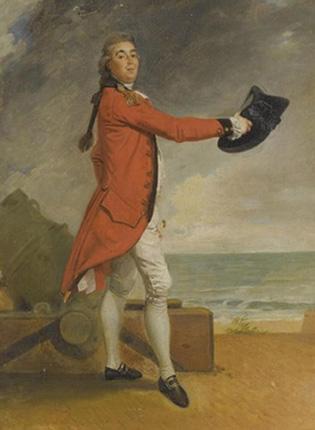 The portrait of Major George Maule by 18th-century artist Johann Zoffany