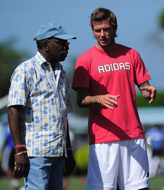 Jack Warner pictured with David Beckham earlier this year
