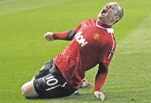 Wayne Rooney explodes with emotion upon scoring United's winner from the penalty spot