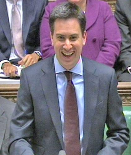 The Labour leader Ed Miliband during PMQs yesterday