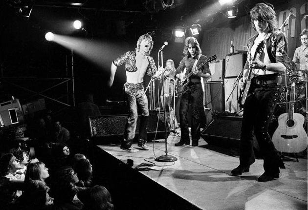 The Rolling Stones play at London's Marquee Club on Oxford Street in 1971