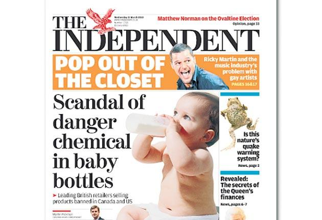 How The Independent broke the story about the dangers of Bisphenol A in baby bottles earlier this year