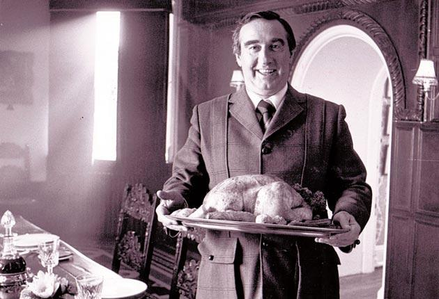 Matthews with one of his turkeys at home in Great Witchingham Hall