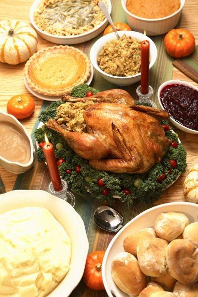 A traditional Thanksgiving meal - the American holiday was in this week's Google Insights trends