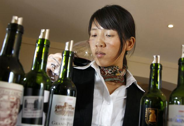 The Chinese are acquiring a taste for fine wine, such as that grown at the Grand Pontet castle in Saint-Emilion