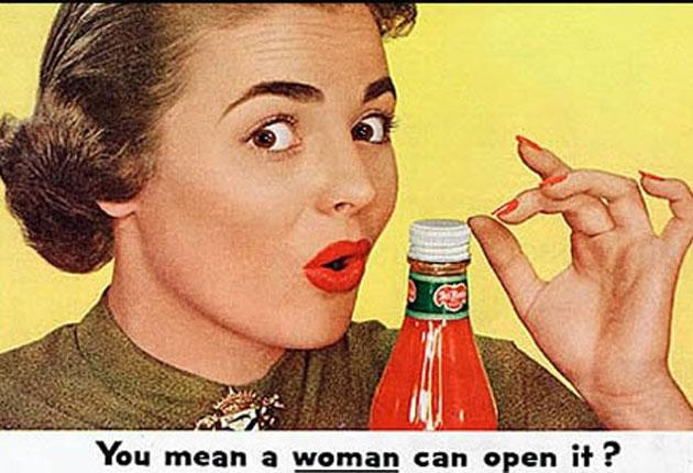 Advertising Fifties-style - sexism is creeping back, although women now have spending power