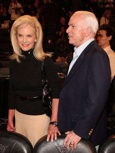 John McCain and his wife Cindy have differing views on gays in the military