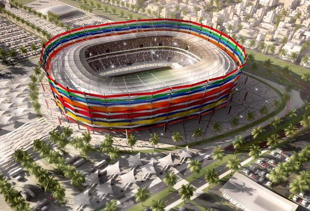 The Al-Gharafa stadium is pictured in this artists impression