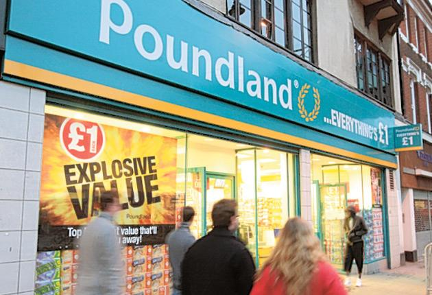 Poundland: a few steps down for people who are more used to shopping at Waitrose