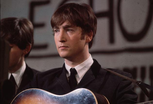 Beatle John Lennon on the 'Ken Dodd show' in 1963