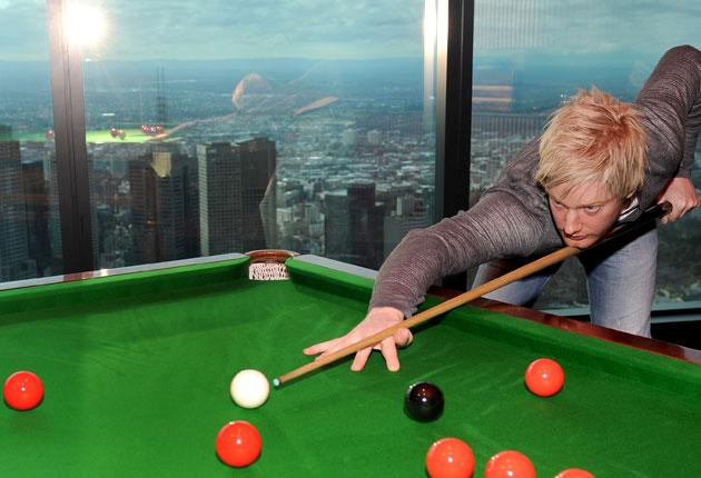 Neil Robertson, seen practising in Melbourne, often gets lost on his travels but rarely on a snooker table
