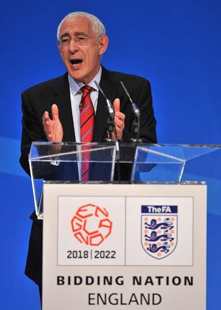 Lord Triesman (left) led a 'League One' standard bid for the 2018 World Cup