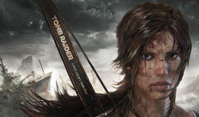 Promotional artwork for the Tomb Raider video game shows a heroine more Swank than Jolie.