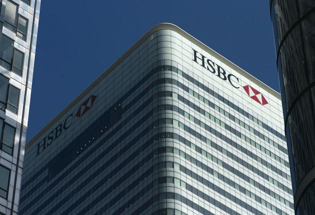 HSBC in Canary Wharf: The bank portrays itself as a trusted partner with global reach