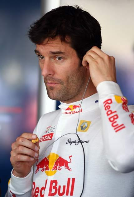 Webber was injured in a mountain bike accident