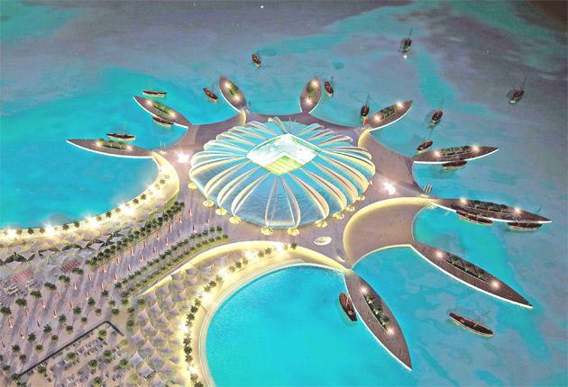 The proposed Doha Port Stadium