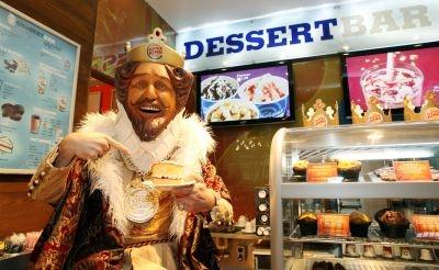 King enjoys his cake at Dessert Bar