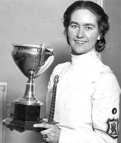 Knowles in 1938 after one of her many victories at the Liverpool Tournament