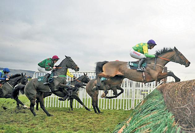 Noel's Christmas present: Noel Fehily and Master Minded on their way to winning the Tingle Creek Chase at Cheltenham