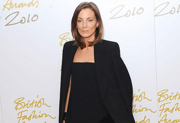 Designer of the Year Phoebe Philo's outfit sprang from the time-honoured tuxedo given to women by Yves Saint Laurent in an attempt to rid them of the frills and furbelows of traditional eveningwear.