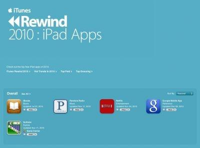 Apple's top iPad Apps for 2010