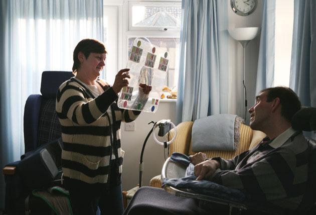 Jane Niklinson caring for husband Tony Melksham