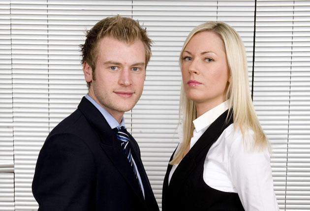 Chris Bates and Stella English, compete in 'The Apprentice' tonight