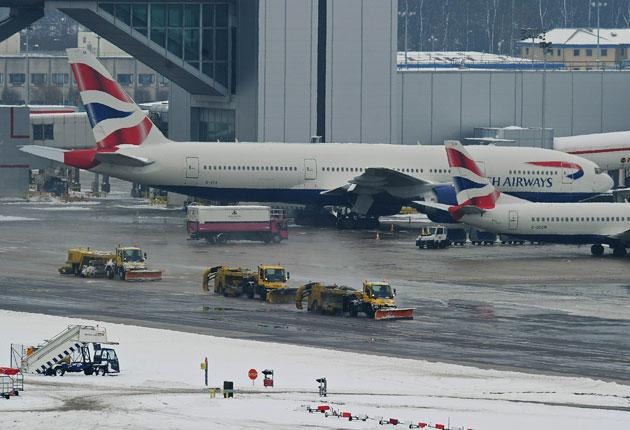 Snow ploughs at Gatwick Airport