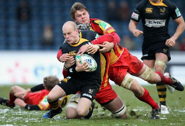Wasps' Joe Simpson (above) combined with Dave Walder to great effect