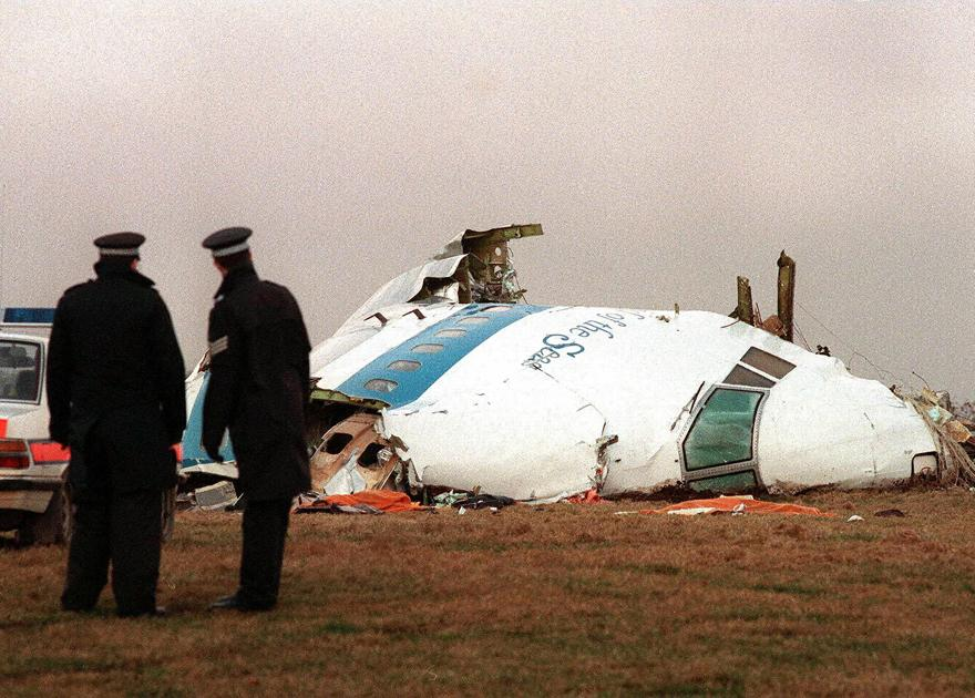 Picture dated 22 December 1988 of the wreckage of the New-York-bound Pan Am Boeing 747 that exploded and crashed over Lockerbie, southwest Scotland, 21 December 1988.