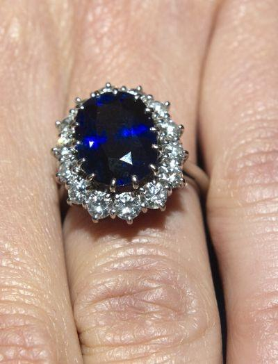 A picture released on November 16, 2010 of a close up of Kate Middleton's engagement ring