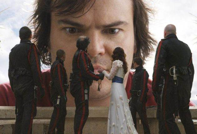 Jack Black in the film adaptation of 'Gulliver's Travels': Big on product placement