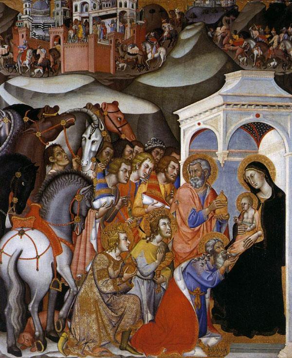 Biblical inspiration: Bartolo Di Fredi's 'The Adoration of the Magi'